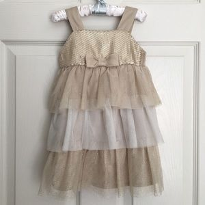Gold Sequined Party Dress Girl 2T